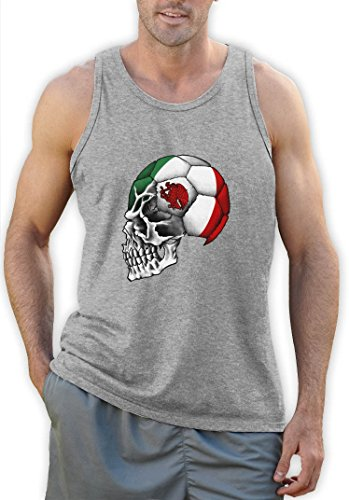 Mexiko Flag Weltmeisterschaft Schädel Tank Top Grau