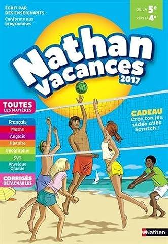 Nathan Vacances 2017 5/4ème - Cahier de vacances