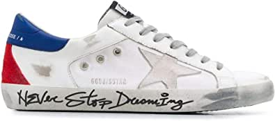 Golden Goose Luxury Fashion Uomo GMF00104F00036410287 Bianco Pelle Sneakers | Stagione Permanente