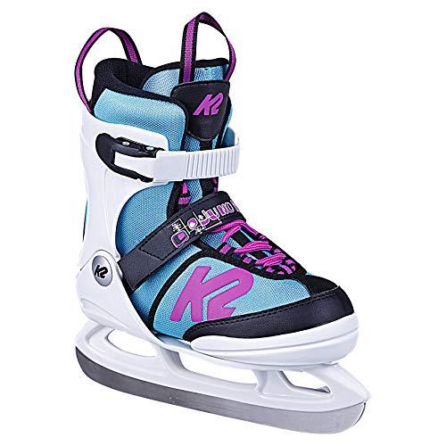 K2 Skates Mädchen Juno Ice (Girl) Skates, White/Light Blue, 35-40 EU -
