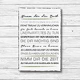 Nimm dir die Zeit - Dekoschild Wandschild Holz Deko Wand Schild 20x30cm Holzdeko...