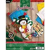 Bucilla 45,7cm Chaussette de Noël en Feutre Applique kit, 86657Amis de la forêt