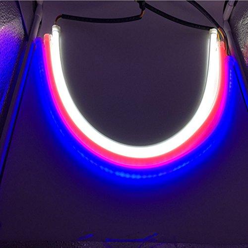 Preisvergleich Produktbild HopeU5® 2x 60cm Dual-Farbe Stück Auto Stil Schlauch 12V DC Weiß-Gelb Switchback Scheinwerfer LED Auto Streifen Licht DRL Tagfahrlicht