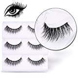Wimpern, VALUE MAKERS® 3D Künstliche Wimpern 3 Paare Falsche Eyelashes