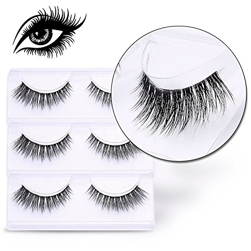 VALUE MAKERS® 3D Künstliche Wimpern 3 Paare Falsche Eyelashes