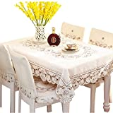 Eanshome fabric craft dining room tablecloth rectangle approx 59 x 86 inch