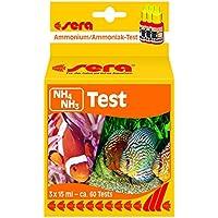 sera 04910 NH4/NH3-Test 15 ml - Ammonium/Ammoniak Test für ca. 60 Messungen, misst zuverlässig und genau den NH3/NH4-Gehalt, für Süß- & Meerwasser, im Aquarium oder Teich
