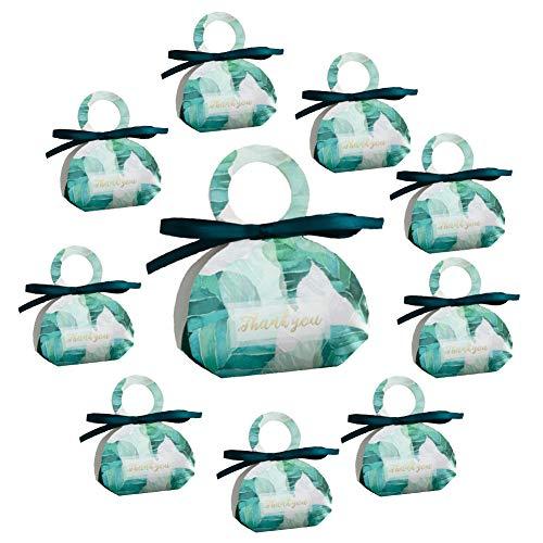 Billty 10 Stück Hochzeitsbevorzugungskasten-Süßigkeits-Bonbon-Kasten-Geschenkbox für Hochzeitsfest-Geburtstags-Babyparty-Dekoration