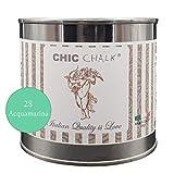 Chic Chalk - 500 ml ACQUAMARINA - Pittura gessosa super opaca. Aderisce su tutte le superfici senza primer o carteggio. Ideale per ottenere mobili in stile Shabby.