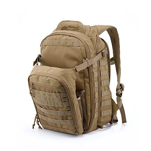 Imagen de yakeda® bolsa de hombro bolsos del alpinismo al aire libre equipado camuflaje táctico  de camping bolsa de viaje bolsas de viaje   militar 60l que acampa yendo trekking bolsa  a88034 color barro  alternativa
