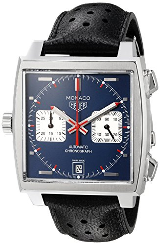 TAG HEUER OROLOGIO MONACO CALIBRE 11 AUTOMATIC BLUE DIAL 39MM...