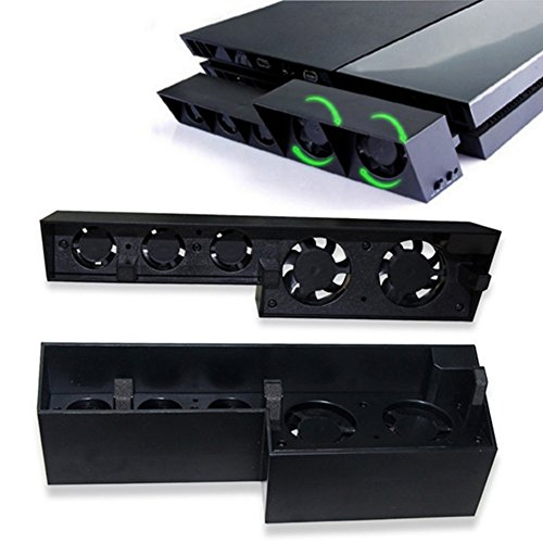 Slri Externer Kühler für PS4 Playstation 4, Temperatursteuerung, Schwarz (E Kühler Wi)