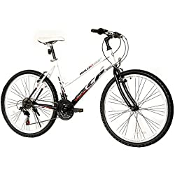 "26"" KCP MOUNTAIN BIKE LADY WILD CAT 18 speed Shimano white black - (26 inch)"
