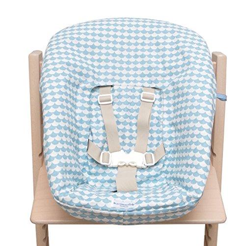Blausberg Baby - Bezug für Stokke Newborn Set - Hellblau Schuppe