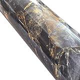 WDragon Granit Marmor Look Folie, Selbstklebend, glänzend, Vinyl, Küche zinntheken Abziehen Stick Tapete Aufkleber 61x 200,7cm