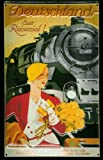 Blechschild Nostalgieschild Deutschland Euer Reiseziel Eisenbahn retro Werbeschild