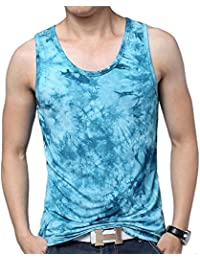 Chaleco de Verano de los Hombres Mercerized Camiseta sin Mangas de Algodón Ink Sweat Impreso Chaleco de Sudor de Gran Tamaño… jWfrA6OpZ