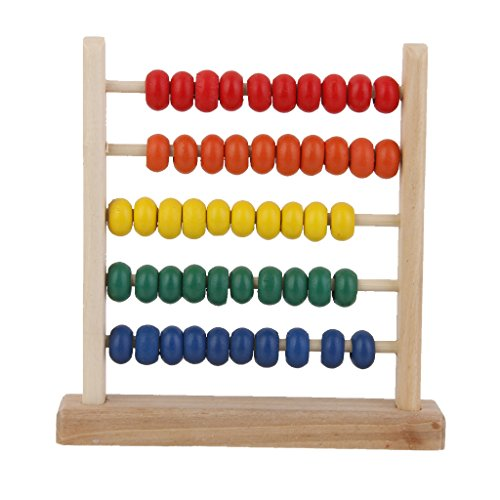 Juguete Educativo de Aprendizaje Matemáticas Ábaco de Madera Niños