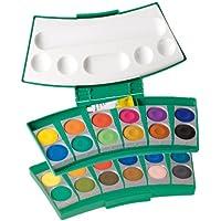Pelikan 724344 ProColor 735/24 - Estuche con acuarelas, paleta y recipientes para el agua (24 colores)
