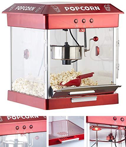 Rosenstein & Söhne Popkornmaschine: Profi-Gastro-Popcorn-Maschine mit Edelstahl-Topf, 800 Watt (Popcorn-Automat)