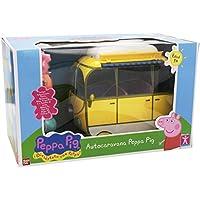 Peppa Pig - Auto caravana de vacaciones, color amarillo (Bandai 84211)