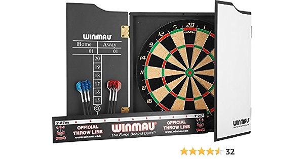 Cabinet Winmau Rebel Dart Board Set with Rebel Dartboard Darts and Oche New
