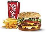 2x Burger Coke & Frites Catering Van Aufkleber Grafiken Bar Pub Take Away Trailer Fast Food