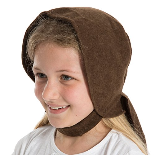Brown Victorian Edwardian Bonnet fancy dress For Childrens (Charlie Brown Party Supplies)