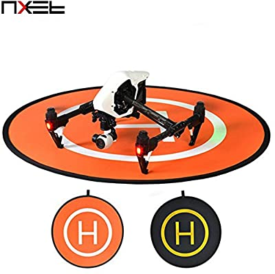 NXET® Universal Drone Helipad, Fast-fold Landing Pad Apron Helipad Protective RC Drone Gimbal Quadcopter Helicopter Parts Accessories for DJI Mavic Pro Phantom 2 3 4 inspire 1 2 Parrot Bebop Syma Yuneec Q500 Typhoon and More