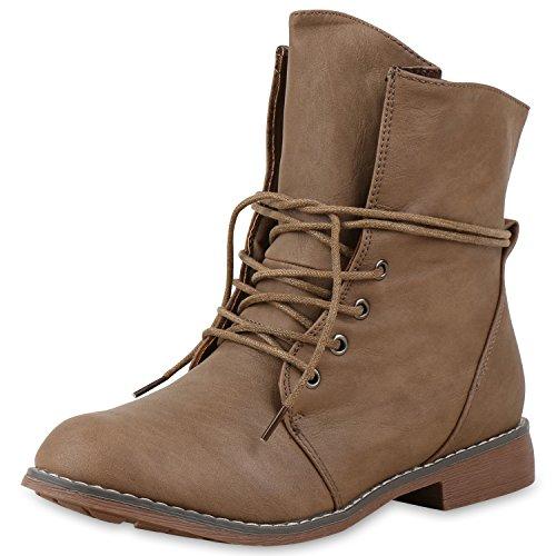SCARPE VITA Damen Stiefeletten Worker Boots Stiefel Stiefel 151486 Khaki 39