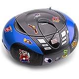 Portable CD joueur AM tuner radio FM MP3 USB du jeu y compris stickers pirate