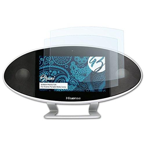 Bruni Schutzfolie für Hisense Portable Media Center Folie, glasklare Displayschutzfolie (2X)