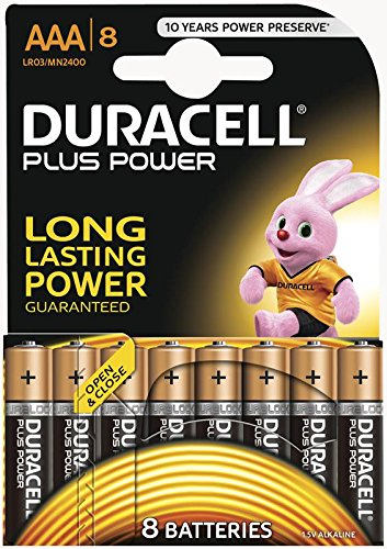 Duracell Plus Power, ricaricabile AAA 8pk, Duralock da punti di gioco Direct