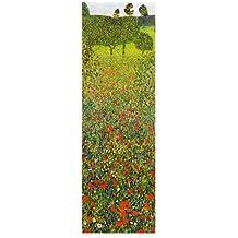 Lámina 'Campo de amapolas', de Gustav Klimt, Tamaño: 35 x 100 cm
