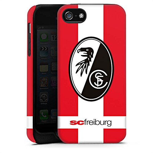 Apple iPhone X Silikon Hülle Case Schutzhülle SC Freiburg Fanartikel SCF Fussball Tough Case matt