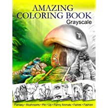 Amazing Coloring Book. Grayscale: For Grown-Ups, Adult Relaxation