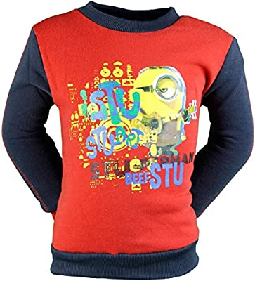 Minions Boy suéter de manga larga estofado de ternera