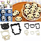 HuaYang Party Home Breakfast DIY Cute Panda Shape Cake Cookie Cutter Plastic Bread Mold Mould Maker 4 Styles 1 Set