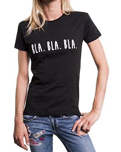 Magliette con frasi simpatiche BLA BLA BLA T-shirt divertenti donna Nero