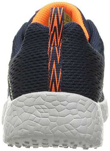 Skechers Burst Second Wind, Baskets Basses Garçon Bleu (Nvor Marine/Orange)