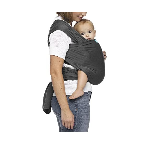 MOBY Evolution Baby Wrap Carrier for Newborn to Toddler up to 30lbs, Baby Sling from Birth, One Size Fits All, Breathable Stretchy Made from 70% Viscose 30% Cotton, Unisex Moby 70% Viscose / 30% Cotton Knit One-size-fits-all Grows with baby, from newborn to toddler 3