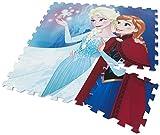 Die Eiskönigin 2in1 Kinderteppich + Puzzle Puzzlematte Teppich Spielteppich Kinderpuzzle Kinderspiel