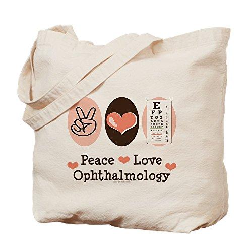 CafePress–Peace Love Augenheilkunde–Leinwand Natur Tasche, Reinigungstuch Einkaufstasche Tote S khaki