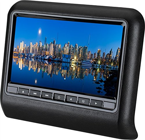 JKYQ Auto Kopfstützen Display 9-Zoll tragbarer DVD-Player Digitaler Touchscreen Multimedia-System Auto Monitor 9 Zoll MP5 HD,Black Black Hd-dvd