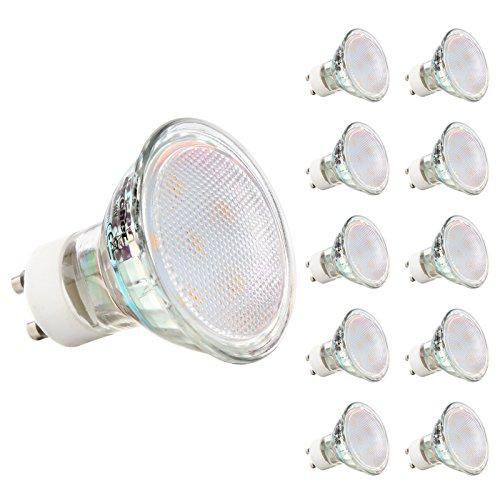 GU10 LED Lampen - Ascher 3W MR16 GU10 LED Lampen [ 280lm, Ersatz für 30W Halogenlampen,Warmweiß, AC 220 -240V,120° Abstrahwinkel] LED Birnen, LED Leuchtmittel, 10er Pack