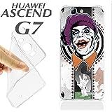 J716 HUAWEI ASCEND G7 GEL CARCASA FUNDA TPU ILUSTRACION FONDO JOKER BATMAN POKER