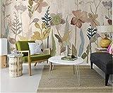 Yirenfeng Papel tapiz americano Fondo de pared de pared Dormitorio rural Arte de la cama Arte de la pared Personal Tela Retro-140X70CM