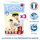 Tidoo - Couches Taille 4 Night and Day - Maxi (150 couches)