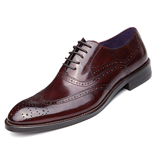 WZG Chaussures hommes, chaussures en cuir britannique Columbus Locke sculpté à la main chaussures hommes ont fait dentelle chaussures chaussures de mariage 6