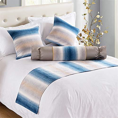 Wxyfl Bettläufer Dekoration Bett Schal Bettfahne Einfach Bettdecke Einzelstück Bettwäsche Schal Schutz für Familienzimmer und Hotels,1.8ricebed50*240CM